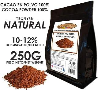 Cacao Venezuela Delta - Cacao en Polvo Puro 100% · NATURAL · Desgrasado 10-12% · 250g