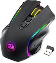 Redragon M602 Wireless Gaming Mouse RGB Backlit, Rechargeable, 7 Programmable Buttons, 4000 DPI for Windows PC Gamers