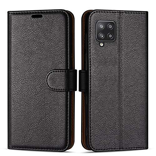 Hülle Collection Hochwertige Leder hülle für Samsung Galaxy A42 5G Hülle (6,6