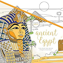 Kaisercraft Ancient Egypt KaiserColour Perfect Bound Coloring Book, 9.75″ x 9.75″