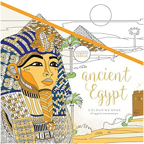 "Kaisercraft Ancient Egypt KaiserColour Perfect Bound Coloring Book, 9.75"" x 9.75"" |"