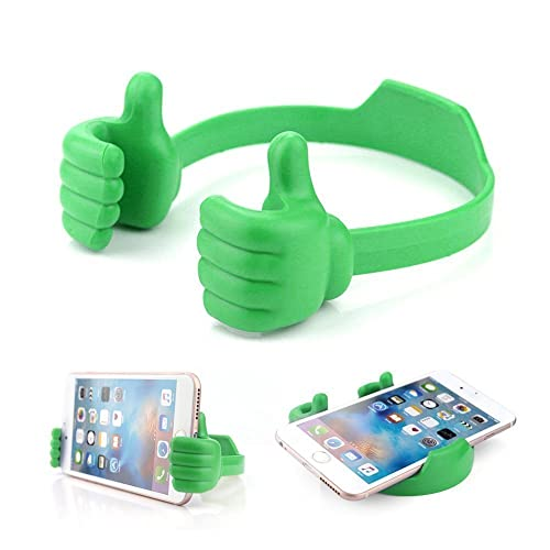 OK Thumbs Up Mobiles Phone Tablet Holder Multi-angle Cute TPU Plastic Flexible All Universal Mobile Phone and Tablet Bed Desk Stand for Kitchen, Office, Bedroom,Bathroom