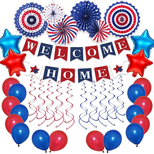 Welcome Home Decorations Military, Welcome Home Balloons Kit, Welcome Home Banner, Welcome Home Party Decorations, Deployment Returning Army Homecoming Party Decor