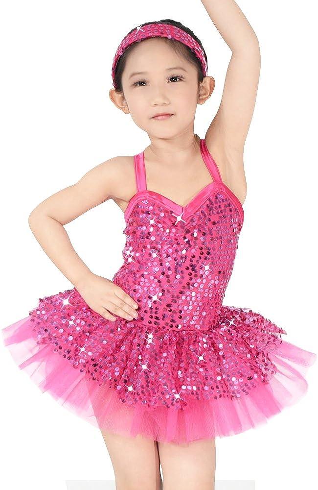 MiDee Ballet Max 66% OFF Costume Tutu Leotard Dress Girl's Dance for Little Ranking TOP14