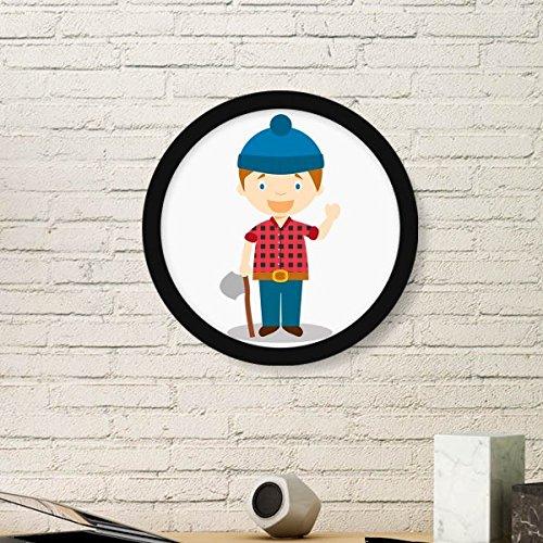 DIYthinker Blauwe Hoed Shirt Canada Cartoon Ronde fotolijst Art Prints Van Schilderijen Thuis Muursticker Gift