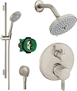 Hansgrohe KSH04447-27495-66BN Raindance Shower Kit with Handshower Wallbar PBV Trim w/Diverter and Rough with Glory Glaze Cleaner and Polish, Brushed Nickel