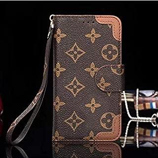 iPhone 7 Plus/8 Plus Flip Case,New Elegant Luxury PU Leather Wallet Style Flip Cover Case (Brown Corner, Fit iPhone 7plus/8plus 5.5 inch)