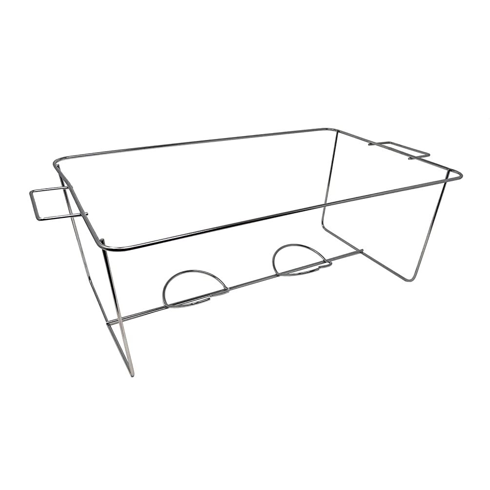 Party Essentials Standard Full Size Heavy Duty Chafing Rack, Wire Buffet Rack Stand, Serving Trays Frame Food Warmer, Chrome (Case of 24)