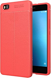 JDYS AYSMG For Huawei P8 Lite Litchi Texture TPU Protective Back Cover Case(Black) (Color : Red)