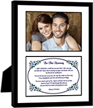 First Anniversary Gift, Love Poem Frame for the Paper 1st Anniversary, Add Photo