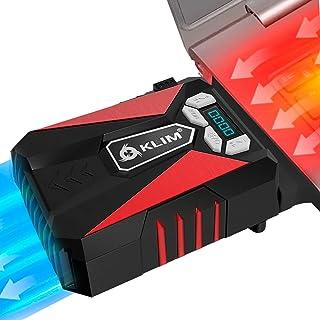 KLIM Cool Laptop Cooler Fan - Innovative Portable Cooling Design with Display - External Gaming Cooler - High Performance ...