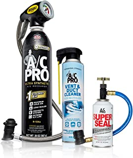 Interdynamics 18575 A/C Pro Full Service Auto Air Conditioning Recharge Bundle, 30. fluid_ounces