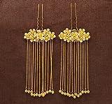 TKHNE Chinese bride tassel step shake Coronet gold ball ornaments Xiu He wedding cheongsam dress costume accessories hairpin headdress