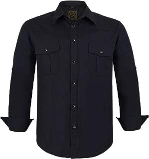 Coevals Club Men's Button Down Plaid Long Sleeve Work Casual Shirt
