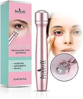 Beaueli 2-in-1 Eye Serum & Eye Roller for Dark Circles and Puffiness Anti Aging Puffy Eyes Massager Eye Bags Treatment Eye Stick