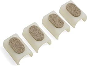 Design61 Viltglijders 4-delige set voor cantilever stoelglijders Ø 24-25 mm meubelglijders met geluidsdempend viltglijvlak.