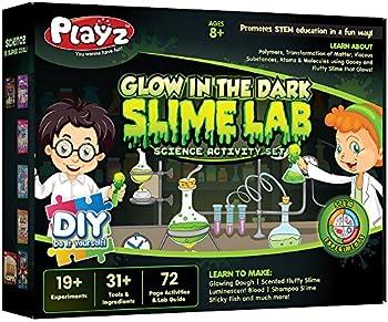Playz Glow In The Dark Slime Lab Science Kit