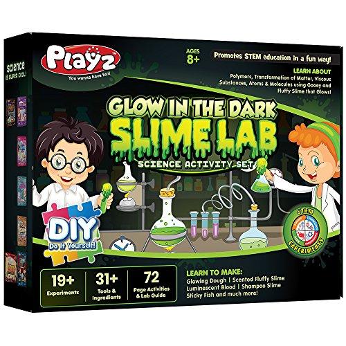 Playz Glow in The Dark Slime Lab Science Set