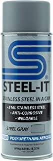 STEEL-IT Polyurethane Aerosol (Steel Gray 2-Pack), Stainless Steel in a Can Protects Against Corrosion, Industrial Paint Coatings, Anticorrosion, Heat/Wear Resistant,Weldable, Food Safe, Easy to Apply