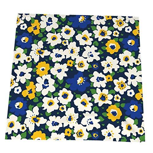 Ye Hua Trendy Seamless Blumenmuster Sea of Flowers Tischsets Wischrein für Esstisch Hitzebeständig und Polyester 19,6x19,6 Zoll 4er-Set