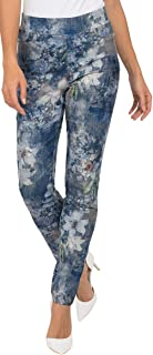 Womens Slim Ankle Denim Floral Pant Style 191754