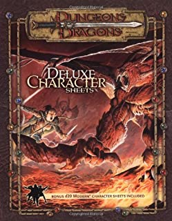 Dungeons & Dragons Accessory: Deluxe Character Sheets  (D&D Accessory)