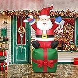 GLOBEAGLE Aufblasbare Aufblasbare Weihnachtsmann Weihnachtsdekoration Yard Arch Ornament EU Plug