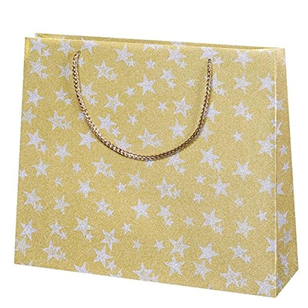 Susy Card 40001838?Christmas Gift Bag 36x31x10?–?Glitter Stars Gold