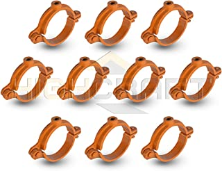 Highcraft HSH-CP12-10 Hinged Split Ring Pipe Hanger Copper Epoxy Coated Iron, 1/2 in. 10 Pack