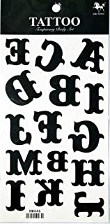 PP TATTOO 1 Sheet ABC Letters English A-Z Alphabet School Letter Temporary Tattoo for Women Girl Fake Tattoos Body Art Arm Jewelry Waterproof Tattoos Stickers Tattoos