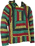 Siesta - Sudadera con capucha estilo mexicano, diseño hippy, colores rasta, Sz, M, L, XL, XXL multicolor multicolor medium