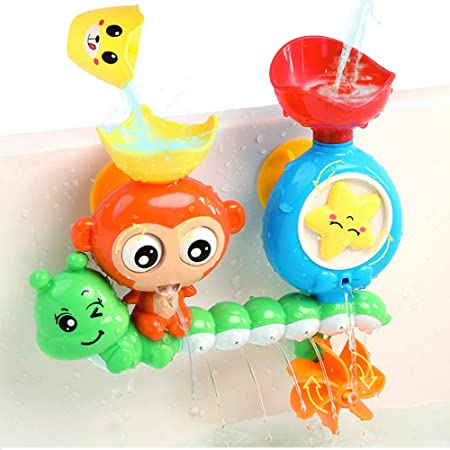 Interactive Fun Bath Wall Tree House Toy,Cute Animals Bathtub Toy with Toy Cup REMOKING Bath Toys Educational Bathroom Shower Toy for Kids 2,3,4 Years and up