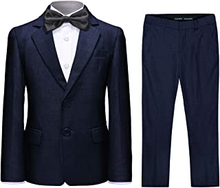 Boys Formal Suit 2 Pieces Blazer Trousers Solid Color for Husky Boy Wedding