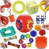 Yetech 22PCS Set De Juguetes Sensoriales,Tubo Juego de Juguetes sensoriales antiestres,Juguete Antiestrés Sensorial de Explotar Burbujas,Juguetes contra el estrés y la ansiedad para niños y Adultos