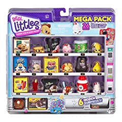 Real Littles are your favorite real Brands as Shopkins for you to collect! Inside the Mega Pack you will find 13 Shopkins and 13 Real Branded Mini Packs! ALL NEW vending machine packaging!Open it up and vend out a favorite friend! Includes 6 Hidden S...