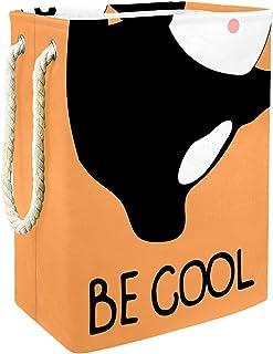 EZIOLY Panier à linge pliable en forme de panda avec poignées, supports amovibles, bonne tenue, étanche pour vêtements, jo...