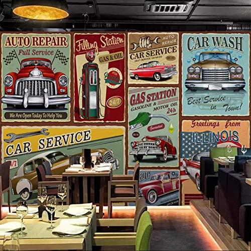 Fototapete Retro Handgezeichnete Europäischen Stil Oldtimer 150x105 cm Vlies Tapete Wanddeko Design Wandtapete Wanddekoration Für Wohnzimmer Schlafzimmer TV Hintergrund Wand