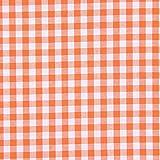 Baumwollstoff Vichy 1 cm – orange — Meterware ab 0,5m — STANDARD 100 by OEKO-TEX® Produktklasse I — zum Nähen von Kissen/Tagesdecken, Tischdekoration & Freizeitkleidung