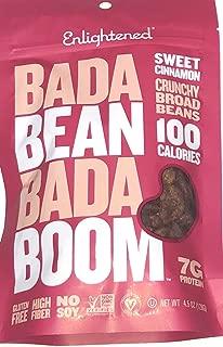 Enlightened Bada Bean Bada Boom Crunchy Broad Beans 4.5oz - 3 Bags (BADA BEAN SWEET CINNAMON 4.5oz 3PK)