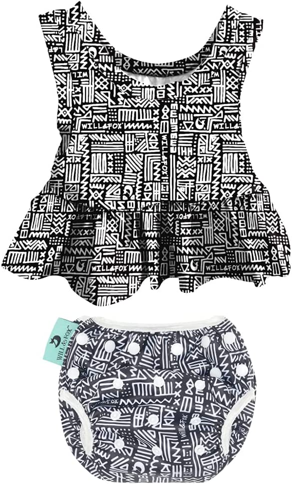 Reusable 2-Piece Swim Diaper and Top Fox Will for Girls Ranking TOP16 by A San Francisco Mall