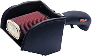 K&N Cold Air Intake Kit with Washable Air Filter: 1996-2000 Chevy/GMC (C2500, C3500, C35, K2500, K3500, Suburban, Tahoe, Yukon, C1500, K1500) V8, Black HDPE Tube with Red Oiled Filter, 57-3013-2