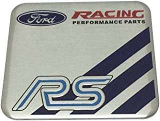 1pcs Car Styling Accessories Ford Racing RS Emblem Badge Decal Sticker Fit For Ford Car Brand Lover