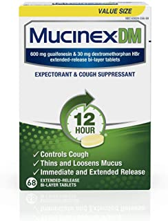 Mucinex DM 12 hour Cough and Chest Congestion Medicine, Expectorant and Cough Suppressant, Lasts 12 hours, Powerful Sympto...