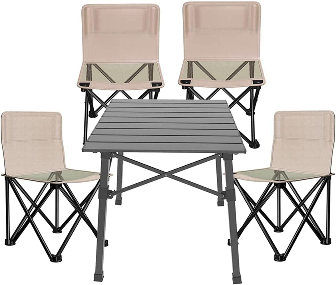 Xkun Seattle Mall Daily bargain sale Camping Table and Chair Outdoor Garden Folding Large