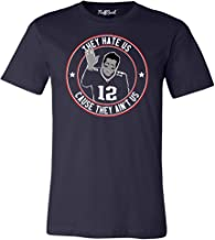 They Hate Us Cause They Aint Us New England Football Fan Shirt - Goat 12 - Champions - Unisex