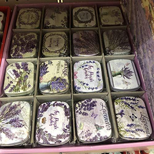Wuweiwei12 1 Stück Lavendel Vintage Mini Dose für Schmuck Süßigkeiten Kleine Sammelmünzen Box...