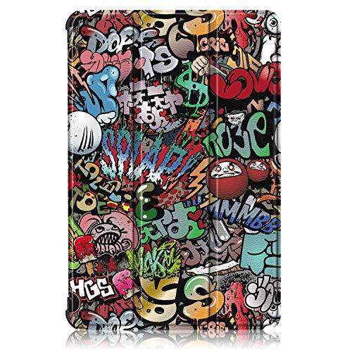 XITODA Hülle Kompatibel mit Huawei MatePad T10 AGR-L09 AGR-W09 9.7''/MatePad T10S AGS3-L09 AGS3-W09 10.1'',PU Leder Stand Schutzhülle für Huawei MatePad T 10/ T 10S Case Cover,Graffiti