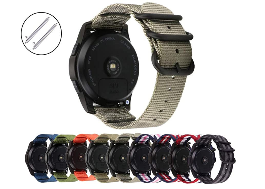 Quick Release Watch Band Sport Bands Nylon NATO Watch Strap Soft Wristband for Samsung Gear S3 Sport Gear Ticwatch E & Ticwtch Smartwatch