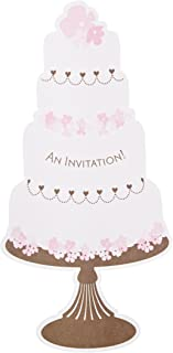 Mara-Mi Wedding Cake Jumbo Imprintable Invitation, 10-Count (90344)