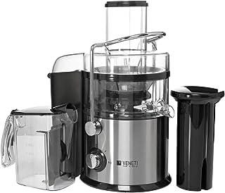 Veneti 800 watts juice extractor, silver, slow starting technology,low noise copper motor, 2 year brand warranty